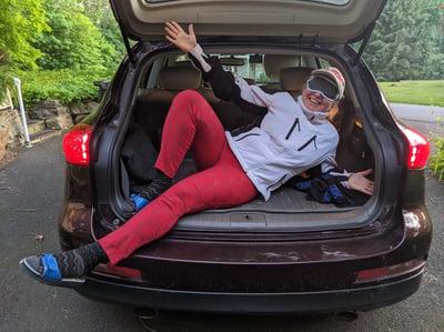 dreyev   Does a blindfolded passenger make  you a safer driver?