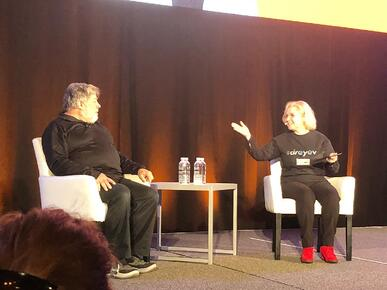 Woz and Maggie at Dig In